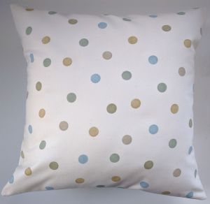 "Cushion Cover in Emma Bridgewater Duckegg and Ochre Polka Dot 14"" 16"" 18"" 20"""